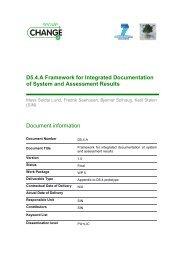 D5.4.A Framework for Integrated Documentation of ... - SecureChange