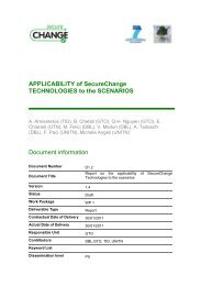 APPLICABILITY of SecureChange TECHNOLOGIES to the ...