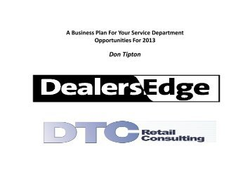 Don Tipton - DealersEdge