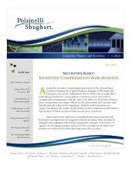 INCENTIVE COMPENSATION RISK ANALYSIS - Polsinelli
