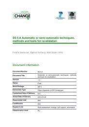 Automatic or semi-Automatic techniques, methods ... - SecureChange