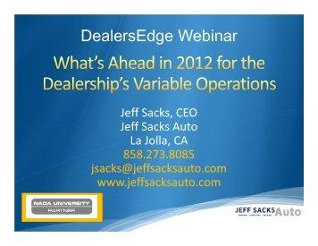 DealersEdge Webinar