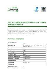 D2.3 An Integrated Security Process for Lifelong ... - SecureChange