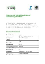Report on the Industrial Validation of SecureChange Solutions ...