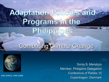 Climate Adaption Policies and Programs in the Philippines