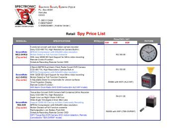 Retail Spy Price List - allsecurity.co.za