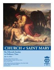 July 14, 2013 - St. Mary's Roman Catholic Church