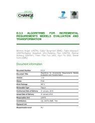 D.3.3 ALGORITHMS FOR INCREMENTAL ... - SecureChange