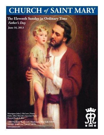 Sunday, June 16, 2013 - St. Mary's Roman Catholic Church