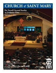 Sunday, September 1, 2013 - St. Mary's Roman Catholic Church