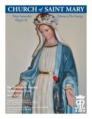 Sunday, June 30, 2013 - St. Mary's Roman Catholic Church