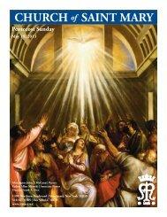 Sunday, May 19, 2013 - St. Mary's Roman Catholic Church