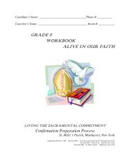 Grade 8 Workbook 2013-14 - St. Mary's Roman Catholic Church