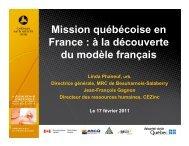 Présentation au colloque de la sécurité civile 2011 - Ministère de la ...