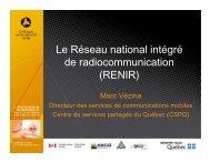 RENIR - Ministère de la Sécurité publique