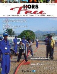 Hors Feu, vol.11, no 1, hiver-printemps 2010 - Ministère de la ...