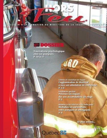 Vol. 10, n o 1, hiver-printemps 2009 - Ministère de la Sécurité publique