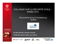 Présentation au Colloque sur la sécurité civile 2012 - Ministère de la ...