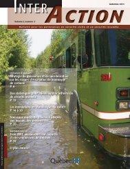 Inter-Action, volume 2, numéro 3 (automne 2011) - Ministère de la ...