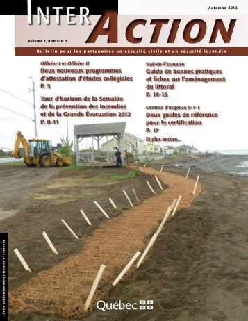 Inter Action, volume 3, numéro 3, automne 2012 - Ministère de la ...