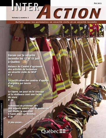 Inter-Action, volume 3, numéro 2 (été 2012) - Ministère de la ...