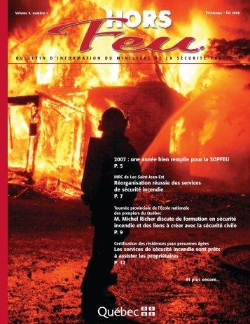 Vol. 9, no 1, printemps-été 2008 - Ministère de la Sécurité publique