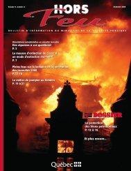 Vol. 9, n o 2, automne 2008 - Ministère de la Sécurité publique