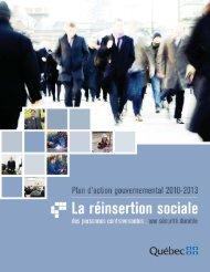 Plan d'action gouvernemental 2010-2013 - Ministère de la Sécurité ...