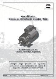 Manual técnico Sistema de alimentación ... - MOZELT GmbH & Co. KG