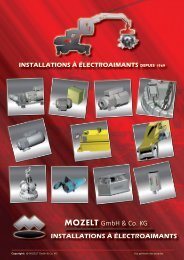 installations à électroaimants depuis 1969 mozelt - MOZELT GmbH ...