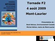 Tornade F2, 4 août 2009 à Mont-Laurier - Ministère de la Sécurité ...