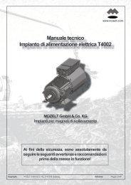 Manuale tecnico Impianto di alimentazione elettrica T4002
