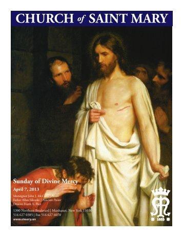 Sunday, April 7, 2013 - St. Mary's Roman Catholic Church
