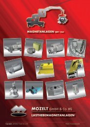 lasthebemagnetanlagen - MOZELT GmbH & Co. KG