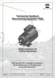 Technisches Handbuch ... - MOZELT GmbH & Co. KG