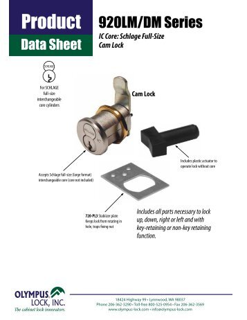 920LM/DM Series - Olympus Lock