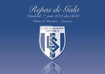 Repas de Gala - Lausanne-Sport
