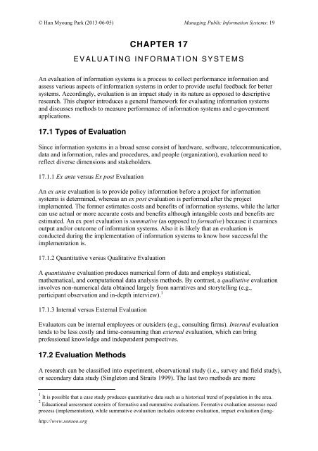 System Evaluation - International University of Japan