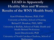 LEAD In Apparently Healthy Men And Women - IUPUI
