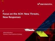 Focus on the ACH: New Threats, New Responses - NEACH
