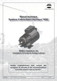 Manuel technique Système d'alimentation électrique T4002