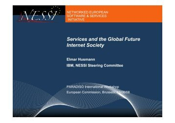 Services and the Global Future Internet Society - PARADISO