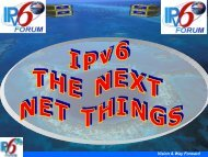 IPv6 Forum Roadmap & Vision 2010 - PARADISO