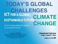 TODAY'S GLOBAL CHALLENGES CLIMATE CHANGE - PARADISO