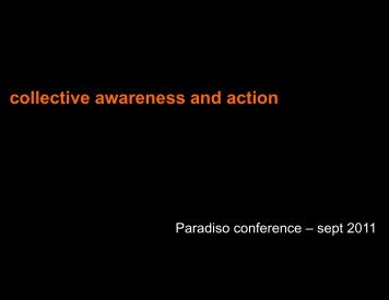 collective awareness and action - PARADISO