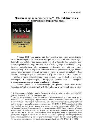 Monografia ruchu narodowego 1939-1945, czyli ... - Glaukopis