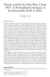Nasser and the Six Day War, 5 June 1967: A ... - Paul Bogdanor