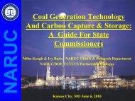 NARUC Coal CCS Primer - Mid-America Regulatory Conference ...