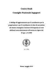 Obbligo di aggiornamento per coord. ante TU 81 - Ordine degli ...