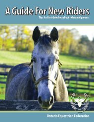 Download our guide - Ontario Equestrian Federation